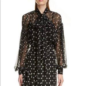 ERDEM silk polka dot blouse 8